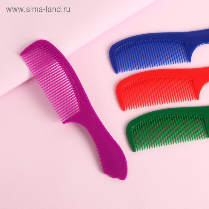 Расчёска-гребень с ручкой, цвета МИКС