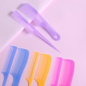 Набор расчёсок, 2 предмета: с ручкой, с хвостиком, цвета МИКС Ош