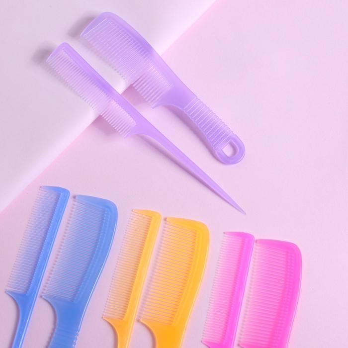 Набор расчёсок, 2 предмета, цвет МИКС