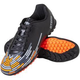 Бутсы футбольные Atemi SD400 TURF, цвета: чёрный, оранжевый, серый, синтетическая кожа, размер 40