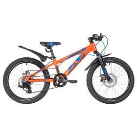 """Велосипед 20"""" Novatrack Extreme, 2020, цвет оранжевый"""