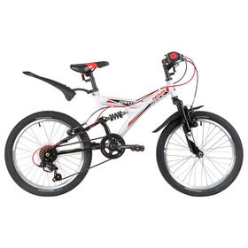 """Велосипед 20"""" Novatrack Dart, 2020, цвет белый"""