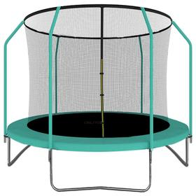 Батут ONLITOP, d=305 см, с сеткой высотой 173 см, цвет зелёный