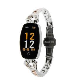 """Фитнес-браслет ZDK H8, цветной дисплей, 0.96"""", BT, пульсометр, датчик давления, серебристый"""
