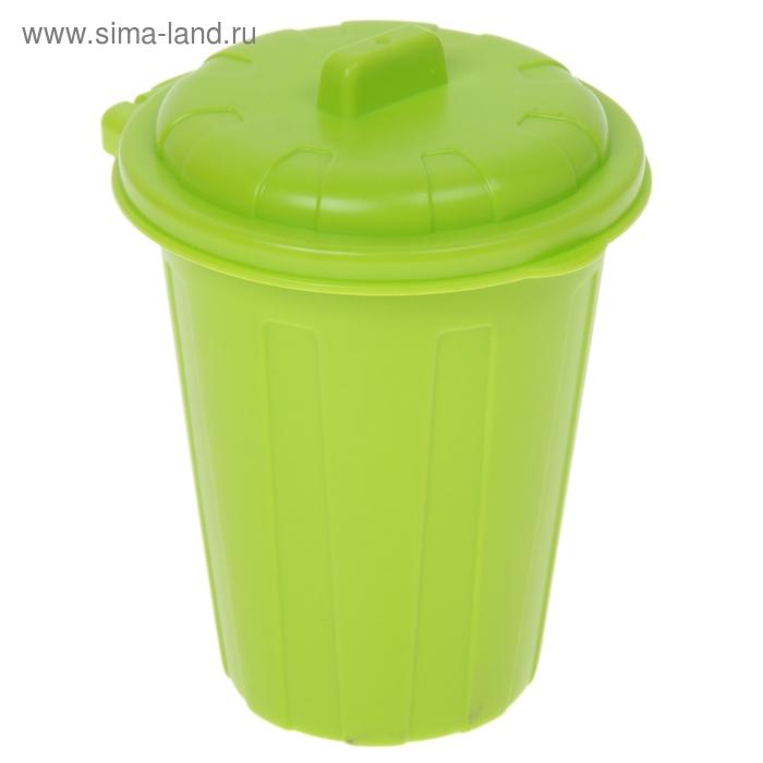 Контейнер для мусора с крышкой 9*9*13 см, цвета МИКС