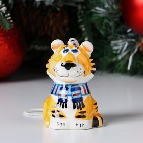 """Колокольчик фарфоровый """"Тигр"""", 8 см"""