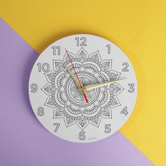"""Набор """"Мандала"""", циферблат - раскраска, часовой механизм - фото 282128901"""