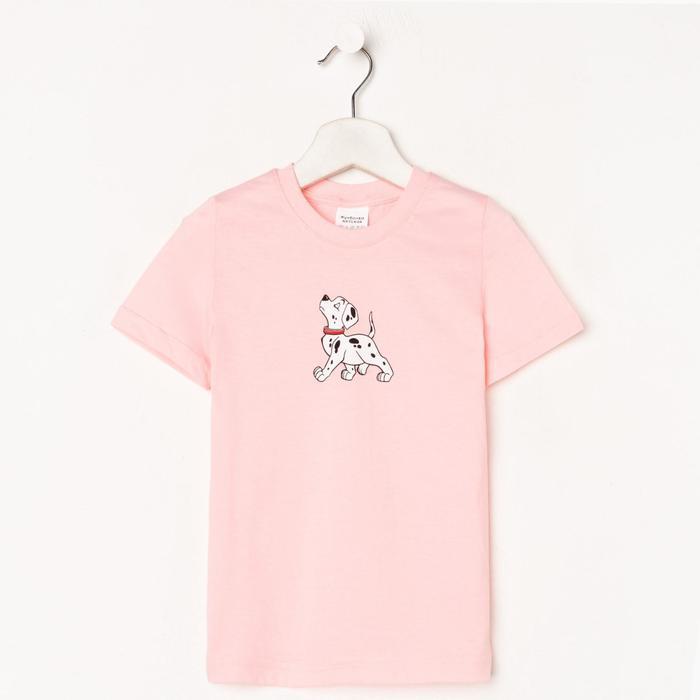 Футболка для девочки, цвет светло-розовый, рост 104-110 см - фото 282129537