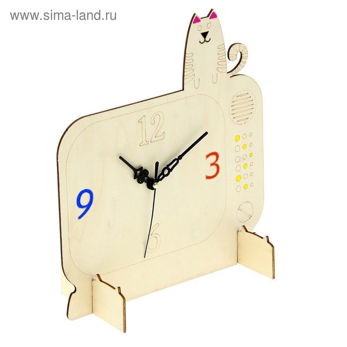 """Деревянные часы-раскраска """"Семейный просмотр"""""""