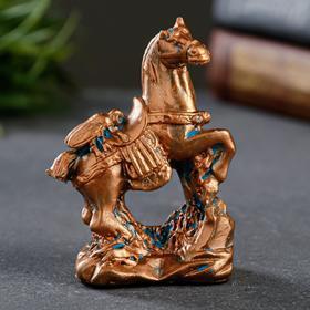 """Статуэтка """"Муха на коне"""" окисленная медь, 6см"""