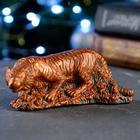 """Статуэтка """"Тигр на охоте"""" окисленная медь, 5х12см - фото 282129728"""
