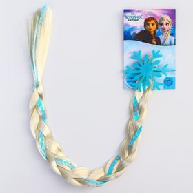 "Коса на резинке для волос ""Снежинка"""