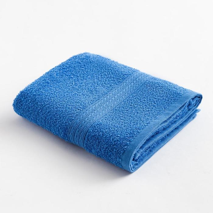 """Полотенце махровое """"ВЫГОДА"""" 70х130 см, цв. светло-синий  100% хлопок - фото 282130225"""