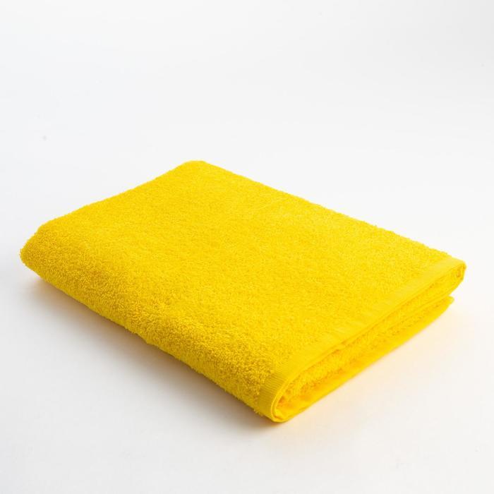 Полотенце махровое Экономь и Я 70х130 см, цв. жёлтый, 340 г/м² - фото 282130261