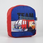 Рюкзак со светодиодом «Машинка», 20х9х22, отд на молнии, красный - фото 282130274