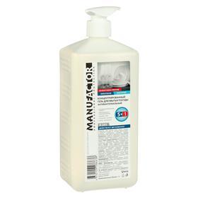 """Концентрированный гель для мытья посуды """"Антибактериальный"""" MANUFACTOR, ПВХ с дозатором, 1л"""