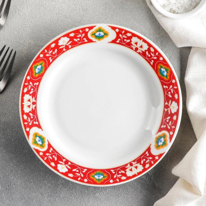 Тарелка мелкая «Красная Пахта», d=17,5 см, гладкий край - фото 282130532