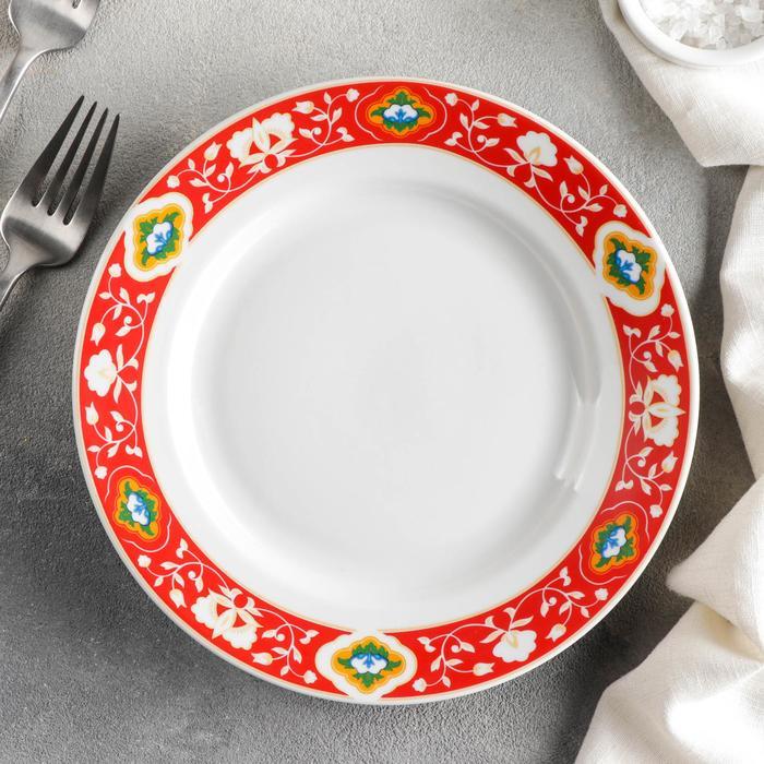 Тарелка мелкая «Красная Пахта», d=20 см, гладкий край - фото 282130535