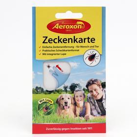 Пластиковая карта AEROXON для безопасного извлечения клещей