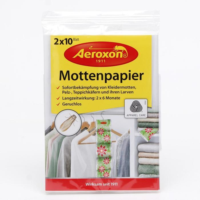 Бумажные листы AEROXON от моли, меховых и ковровых жучков, 2*10 - фото 282130672