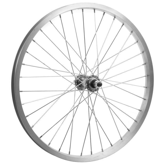 """Колесо 20"""" переднее TRIX, обод одинарный алюминиевый, 36отв, на гайках - фото 282131475"""