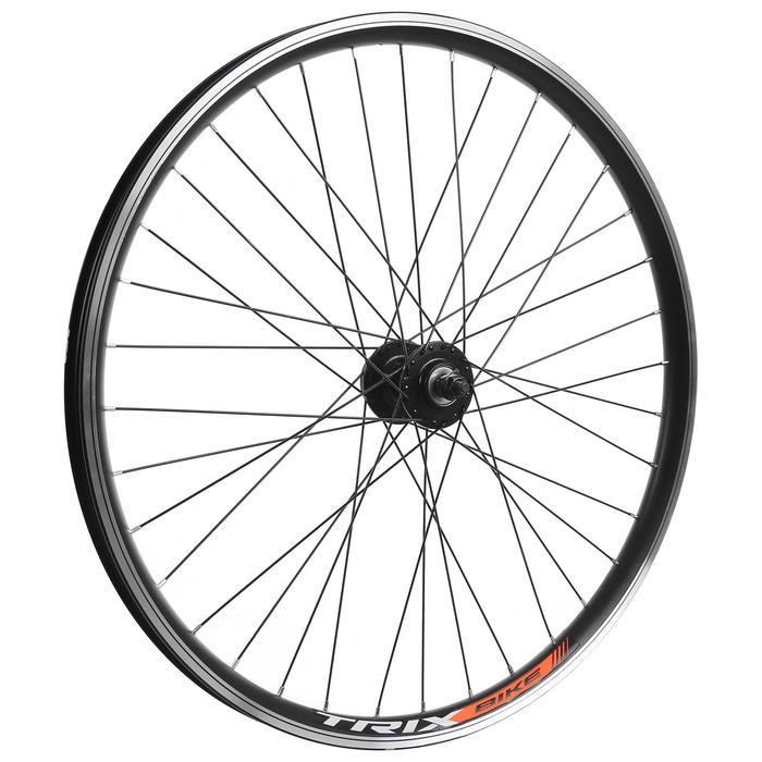 """Колесо 26"""" переднее TRIX, обод двойной алюминиевый, 36отв, под диск, на гайках - фото 282131502"""