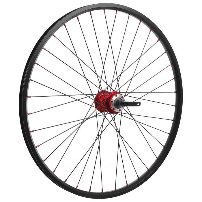 """Колесо 26"""" переднее TRIX, обод двойной алюминиевый, 36отв, под диск, эксцентрик - фото 282131505"""