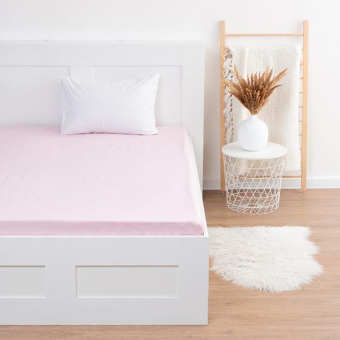 """Простыня """"Этель"""" 150х214 см, цв. розовый, 100 % хл, бязь - фото 282131626"""