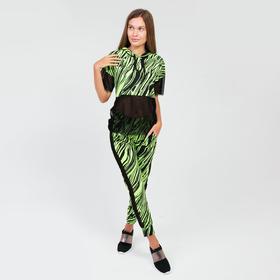 Костюм женский (свитшот, брюки), цвет салатовый, размер 42