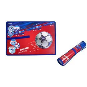 Накладка на стол пластиковая, А3, 430 х 290 мм, 500 мкм, Play Football