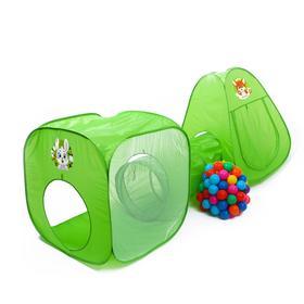 Игровой набор - детская палатка с тоннелем и шариками «Давай играть»