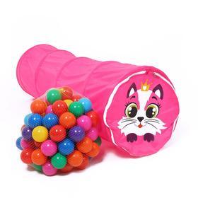 Игровой набор - детская палатка с шариками «Кот» шарики: 90 шт.