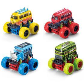 Модель машины «Автобус с большими колёсами», инерционный металлический, 10 см, МИКС.