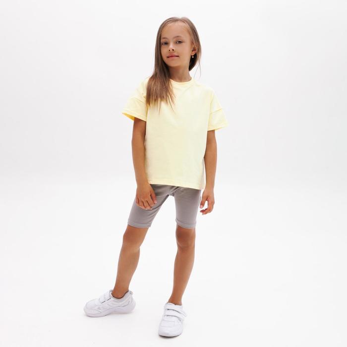 Футболка детская MINAKU:Basic line kids цвет лимонный, рост 152 - фото 2839938