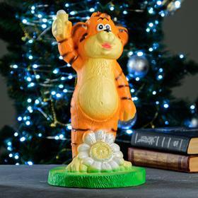 """Копилка """"Тигр с ромашкой"""" рыжий, 18,5х18,5х32см"""