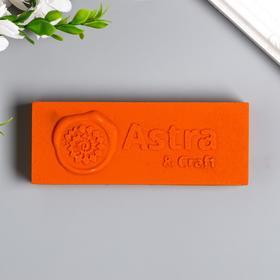 """Сургуч в плитке """"Astra&Craft"""" 200 гр, орнажевый"""