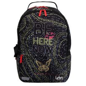 Рюкзак молодежный с эргономичной спинкой, deVENTE Red Label, 39 х 30 х 17 см, Be Here, чёрный/золотой
