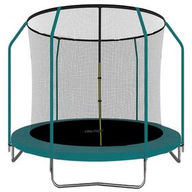 Батут 244 см, высота сетки h=173 см, цвет зеленый