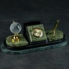 "Business card holder ""the Coil"": the pen holder, clock, globe"