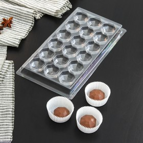"""Форма для шоколада 18 ячеек 22х11 см """"Бриллиант"""""""