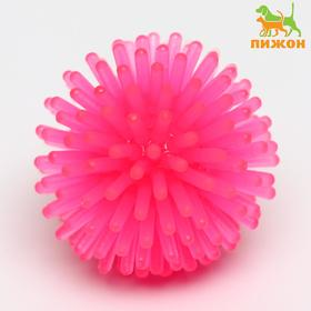 Шарик для кошек игольчатый, мягкий, 3,5 см, розовый