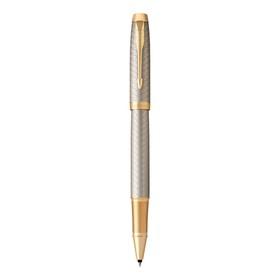 Ручка-роллер Parker IM Premium T323 Grey GT F, 0.5 мм, корпус из алюминия, чёрные чернила (1931686)