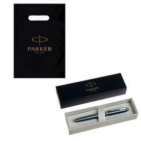 Ручка перьевая Parker IM Core F321 Light Blue Grey CT F, корпус из нержавеющей стали, синие чернила (1931648)
