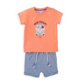 Комплект для мальчика, размер 2-3 года, цвет оранжевый