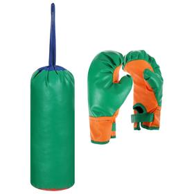 Set for boxing children number 1 IDEAL (gloves + pear), Mix color