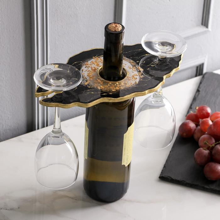 Подставка для вина и бокалов «Звездная ночь», 25 х 0,6х 13 см - фото 1000397