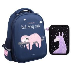 Рюкзак каркасный Bruno Visconti 38 х 30 х 20 см, «Pink Sloth»