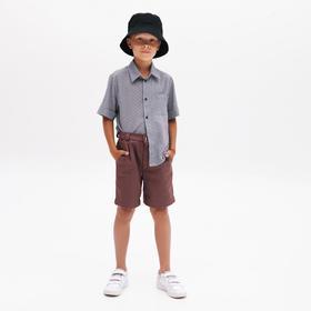 Шорты для мальчика MINAKU: Casual collection KIDS, цвет шоколадный, рост 104 см