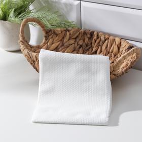 Салфетка универсальная нетканная, из целюлозы и полиэстера, 70×140 см, цвет белый