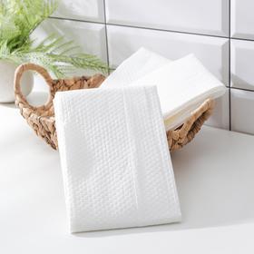 Салфетки универсальные, нетканные, из целюлозы и полиэстера, 3 шт/уп, 65×140 см, цвет белый